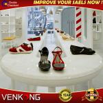 Classic Wooden shoe display Showcase-Venkong showcase