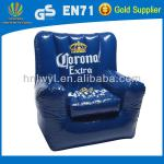Summer hot sale pvc inflatable cooler sofa with cup holder inflatable cooler chair-LWSF-165