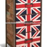 Industrial Union Jack Chest of Drawer-.