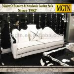Italian New Antique Chinese Made Leather Classic Sofa JB768-JB756