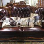 Bisini Furniture- Love Seat Sofa Geniune Leather American Style Two Seat Sofa(BF11-1022b)-BF11-1022b