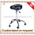 saddle stools for salon good five feet base with pu wheels for durable-B-714-4