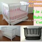 Solid pine baby bed,baby cribs,baby cot-TC8033