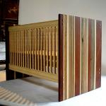 Stylish wooden baby crib/ baby cot-