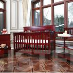Baby Crib with changing tabe and cabinet-HSBC 025