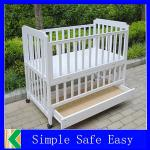 2014 hot sale wooden baby bed designs,modern Kids,baby Bed baby beds with drawers with high quality-KL-B20