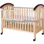 wooden baby bed with wheel-MC677