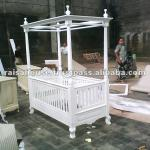 Mahogany Furniture-Antique Louis Baby Crib-RBD 072