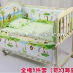 HIIFON around closed folded solid wooden baby bed-HIF-BY001