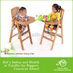 No allergic reactionl Baby Dining High Chair Made of Quality Bamboo-TH-C1001