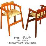moving wooden easy baby chair-T-28