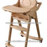 wooden baby high chair-SP-X005