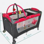 Luxury Baby Playpen Disney authorization Foldable portable crib XIE=BP-722-XIE-BP-722