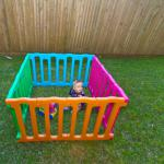 Bright Coloured Plastic Playpen-