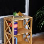 Bamboo Movable Book Shelf(Manufacturer)-HY-F136C