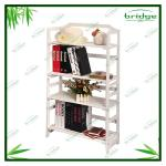4-Tier modern white bookshelf-EHC130626G