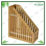 Wooden bamboo magazine book rack-EHL130724A