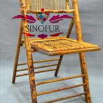 Bamboo folding chairs wholesale-SNWF-A005