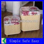 Eco-friendly rectangular bamboo chair-KL-H4