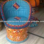 Vintage Tribal Rajkoti Hand Embriodery Decorative Garden Chairs, Garden Sofa's-Specially made for Hotels, Resorts, Club Houses-PF-037