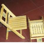 Leisure outdoor folding bamboo chair-