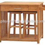 Bamboo kitchen dining table and chair-HX1-3228