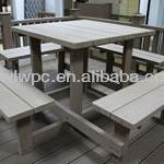 wpc outdoor picnic table-WL-B011