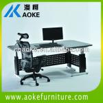 electric lift office desk with L shaped legs-SJ03E-D