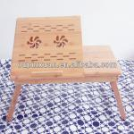 Factory supplier new portable folding bamboo laptop table-T-001