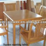 Solid bamboo wood table for dining room-