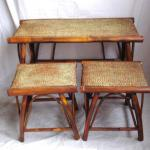 bamboo table and stool-