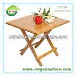 60*60*50CM Bamboo Folding Square Dining Table,Modern Dining Room Furniture,Simple and Stylist Design,Outdoor Furniture-ZDZ-01