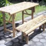 Bamboo Folding Table & Chair-