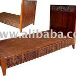 Teak Wood Bed Decorating With Sugar Palm Size 5 Feet-