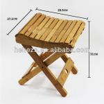 new style natural bamboo foldable stool-HH12