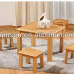 AAA quality bamboo furniture luxury bamboo dinning table and chair kids table and chair children stool teak look hot selling-