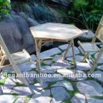 Folding bamboo chair and table-folding bamboo