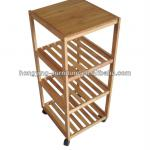 4 tier bamboo shelf-HY-S1349