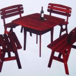 Wooden Table And Chairs-