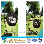 supply 2013 hot selling outdoor furniture modern design round rattan/wicker swing-WR-SC04-001
