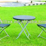 ratten/wicker folding table and chair set-LET-3237