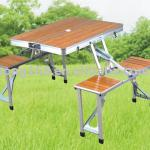 bamboo folding table and chairs-LH-00000021