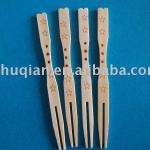 healthy and green fruit fork made from natural bamboo-BFF001