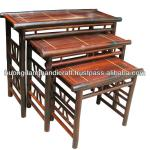 set of 3 bamboo tables for home and garden-BFT 034/3