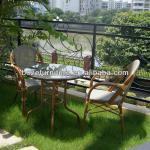 Coffee shop reception: outdoor furniture seating set/ bamboo-like garden furniture-SB008