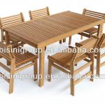 Wholesale bamboo furniture, Outdoor Bamboo Dining Square Table Set (BF10-W21)-BF10-W21