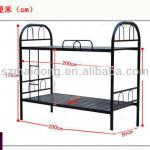 Black metal bunk bed for dormitory-B-19
