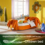 Orange fabric kids cartoon bed EEAE009-EEAE009