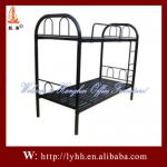 Black dormitory heavy duty metal kids bunk bed-HH-BB239