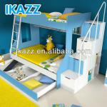 twin full bunk loft beds children furniture with stair blue finish-JM-H-A-1200